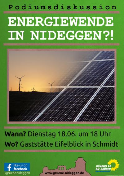 Podiumsdiskussion: Energiewende in Nideggen?!