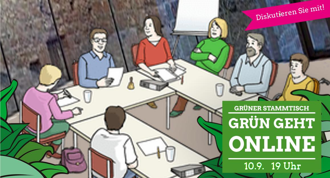 Offener Grüner Online-Stammtisch, 10.9.2020, 19 Uhr