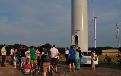 Windkraftanlagenbesichtigung zwischen Nideggen und Thum